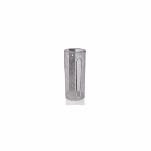 Ybm Home 2371 Silver Mesh Wall Mount Cylinder Bag Perspective: front