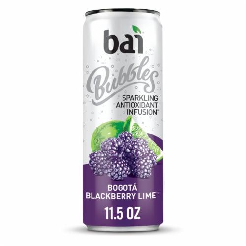 Bai Bubbles Bogota Blackberry Lime Sparkling Beverage Perspective: front
