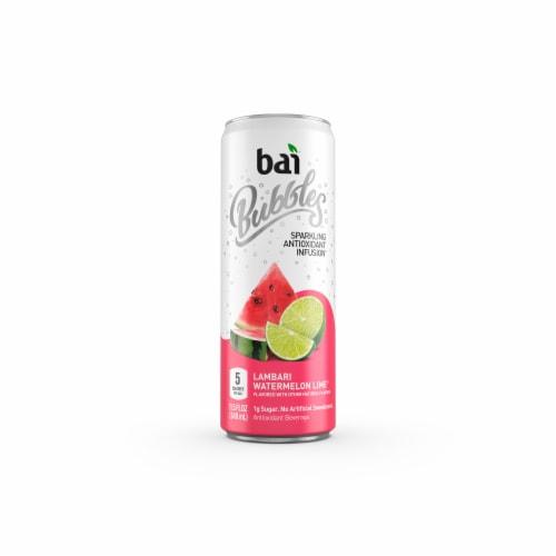 Bai Bubbles Lambari Watermelon Lime Sparkling Beverage Perspective: front