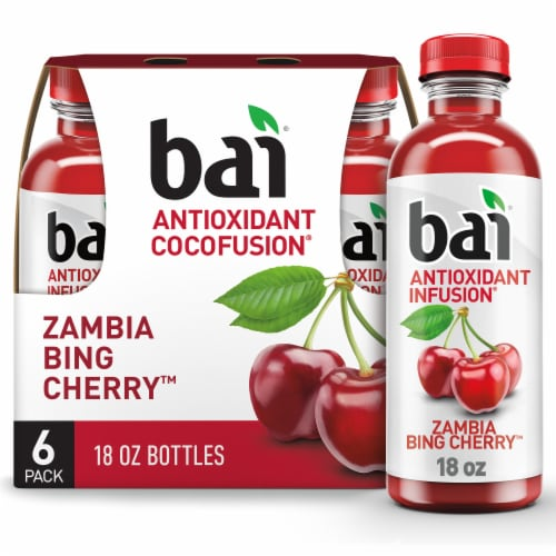 Bai Zambia Bing Cherry Antioxidant Infused Beverage Perspective: front