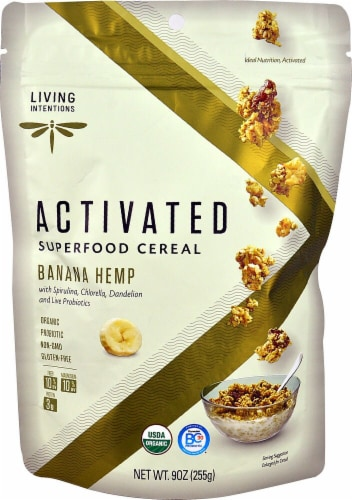 Living Intentions  Activated Super Food Cereal   Banana Hemp Perspective: front