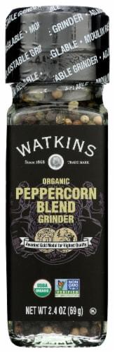 Watkins Organic Peppercorn Blend Grinder Perspective: front