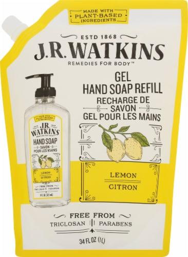 J.R. Watkins Lemon Liquid Hand Soap Refill Pouch Perspective: front