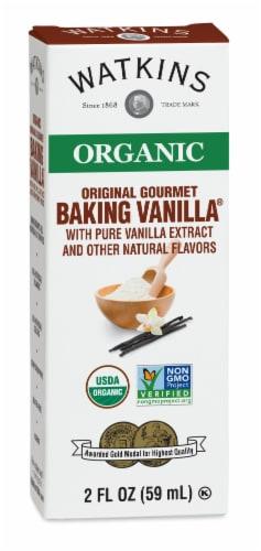 Watkins Organic Gourmet Baking Vanilla Extract Perspective: front
