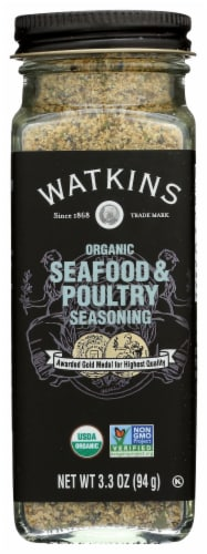 Watkins Organic Seafood and Poultry Seasoning Perspective: front