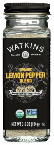 Watkins Organic Lemon Pepper Blend Perspective: front