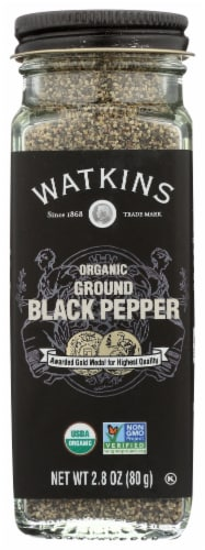 Watkins Organic Ground Black Pepper Perspective: front