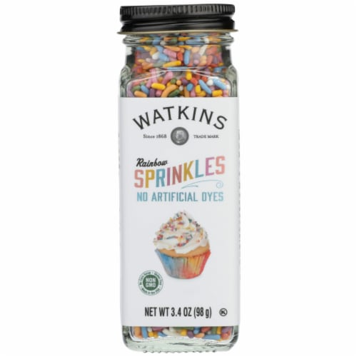 Watkins Rainbow Decorating Sprinkles Perspective: front