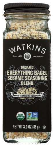 Watkins Organic Everything Bagel Sesame Seasoning Blend Perspective: front