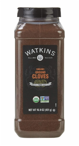 Watkins Organic Ground Cloves Perspective: front