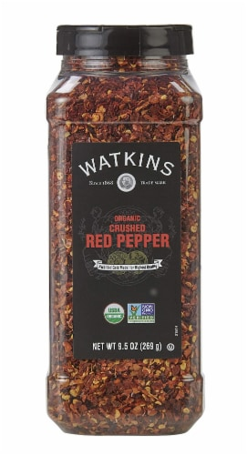 Watkins Organic Crushed Red Pepper Perspective: front