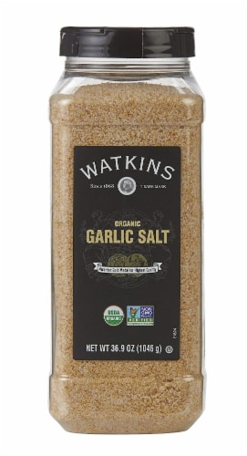 Watkins Organic Garlic Salt Perspective: front