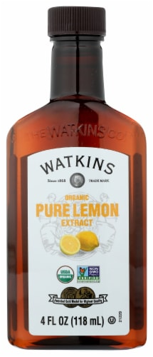 Watkins Organic Pure Lemon Extract Perspective: front