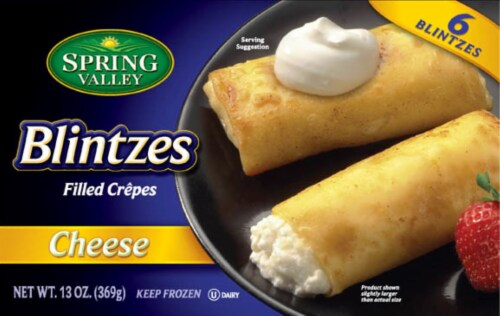 Spring Valley Cheese Filled Crepes Blintzes Perspective: front