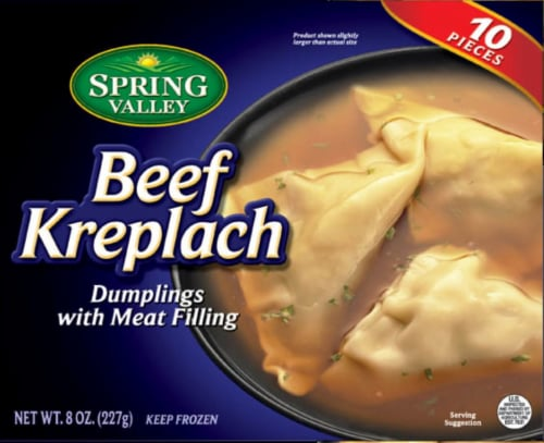 Spring Valley Beef Kreplach Meat Filled Dumplings 10 Count Perspective: front