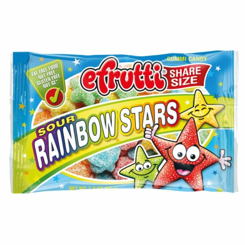 efrutti Sour Rainbow Stars Gummi Candy Share Size Perspective: front