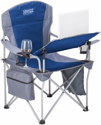 Creative Outdoor Folding iChair - Blue/Gray Perspective: front