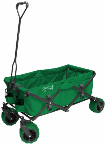Creative Outdoor All-Terrain Folding Wagon - Green Perspective: front