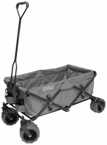 Creative Outdoor All-Terrain Folding Wagon - Gray Perspective: front