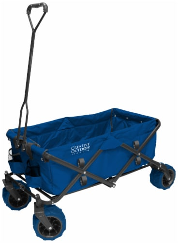 Creative Outdoor Folding Wagon Cart - Blue Perspective: front