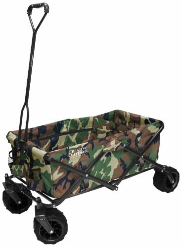 Creative Outdoor All-Terrain Folding Wagon - Camo Perspective: front