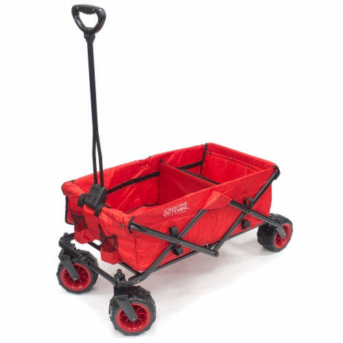 Creative Outdoor All-Terrain Folding Wagon - Red Perspective: front