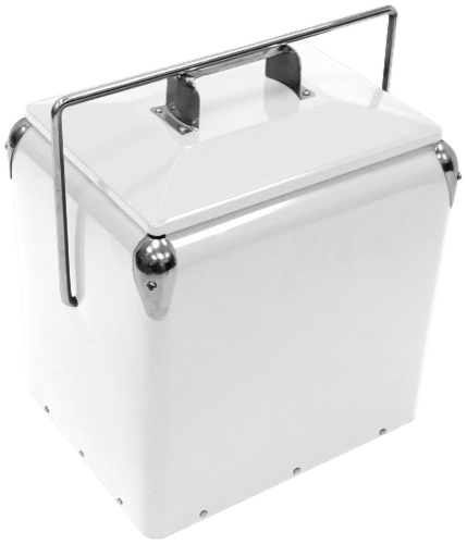 Creative Outdoor Retro 13L Cooler - White Perspective: front