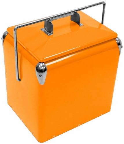 Creative Outdoor Retro 13L Cooler - Orange Perspective: front