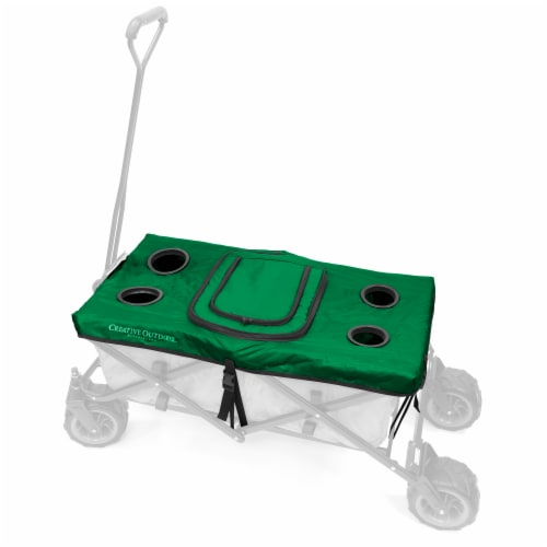 Creative Outdoor Tabletop Cooler Cover for Folding Wagon - Green Perspective: front