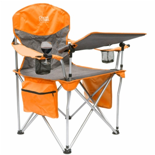 Creative Outdoor Folding iChair - Orange/Gray Perspective: front