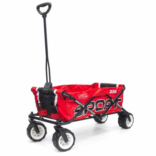 Creative Outdoor Sport All-Terrain Folding Wagon - Red Perspective: front