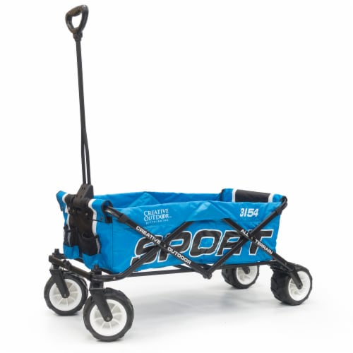Creative Outdoor Sport All-Terrain Folding Wagon - Blue Perspective: front