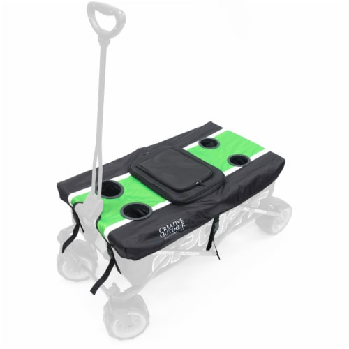 Creative Outdoor Sport Wagon Table Top Cooler - Green Perspective: front