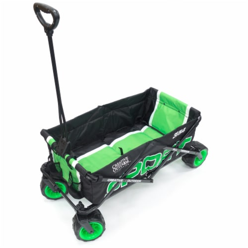 Creative Outdoor Sport All-Terrain Folding Wagon - Green Perspective: front