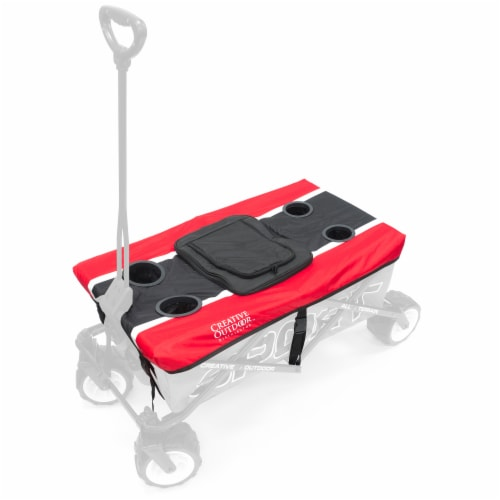 Creative Outdoor Sport Wagon Table Top Cooler - Red Perspective: front