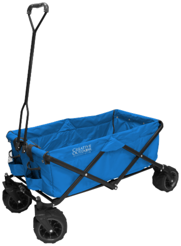 Creative Outdoor All-Terrain Folding Wagon - Blue Perspective: front