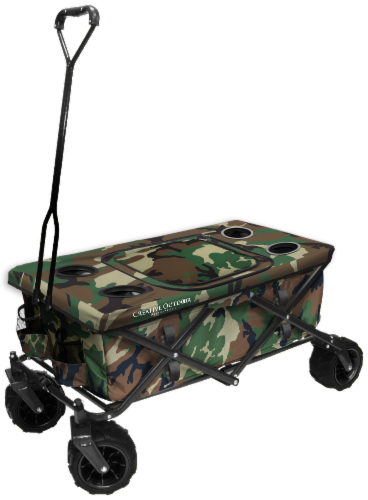 Creative Outdoor All-Terrain Folding Wagon w/Table - Camo Perspective: front