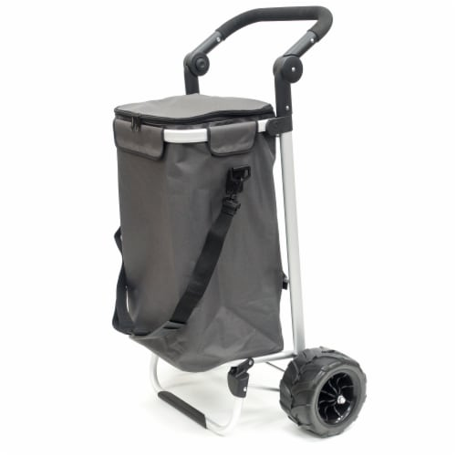 Creative Outdoor EZ Push 40L Folding Sport Trolley - Gray Perspective: front