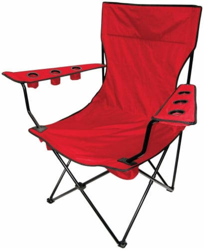 Creative Outdoor Giant Kingpin Folding Chair - Red Perspective: front