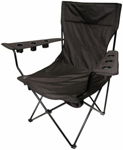 Creative Outdoor Giant Kingpin Folding Chair - Black Perspective: front