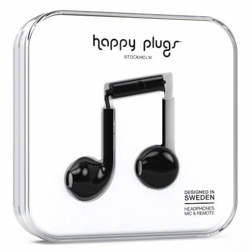 Happy Plugs Earbud Plus In-Ear Headphones - Black Perspective: front