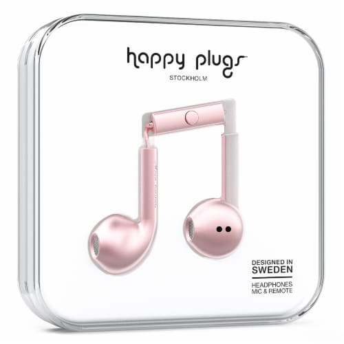 Happy Plugs In-Ear Earbud Plus - Pink Gold Perspective: front