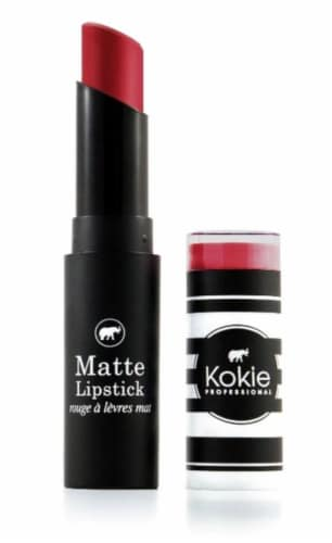 Kokie Professional Matte Candy Apple Lipstick Perspective: front