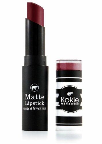Kokie Professional Spiced Wine Matte Lipstick Perspective: front