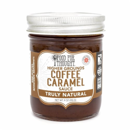 Coffee Caramel Sauce; ; All Natural, GMO Free Perspective: front