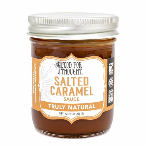 Salted Caramel Sauce; All Natural, GMO Free Perspective: front