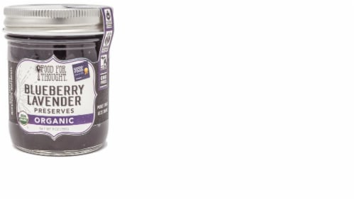 Food For Thought Organic Blueberry Lavender Preserves Perspective: front