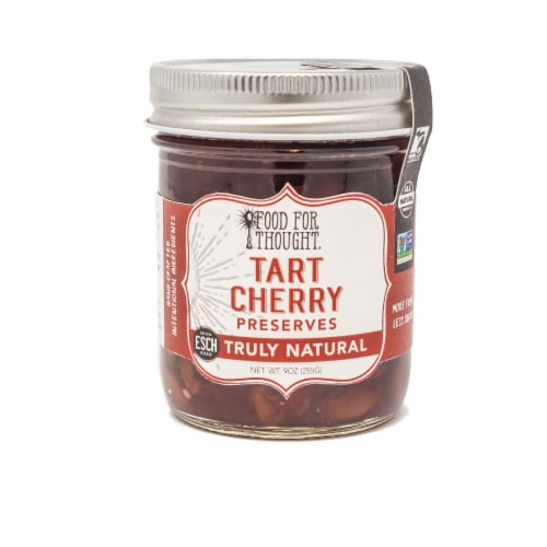 Tart Cherry Preserves; All Natural, GMO Free, Gluten Free Perspective: front