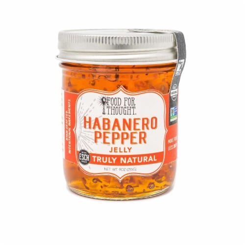Habanero Pepper Jelly; All Natural, GMO Free, Gluten Free Perspective: front