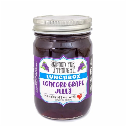 Lunchbox Concord Grape Jelly; All Natural, GMO Free, Gluten Free Perspective: front